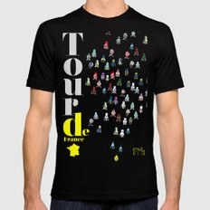 Tour De France Mens Fitted Tee 2X-LARGE Black