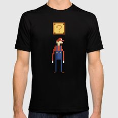 Pixel Plumber Black SMALL Mens Fitted Tee