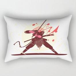Samurai With Sword Illustration Art Rectangular Pillow