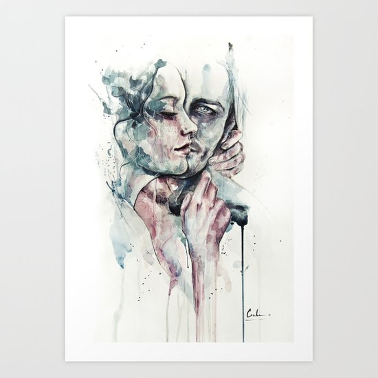 forever yours freckles Art Print