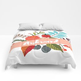 Awkward - Urban Flowers Series Comforters