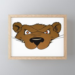 Attention Bear Framed Mini Art Print