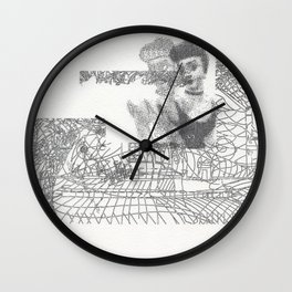 Dinner For One: A Story of Temptation Wall Clock
