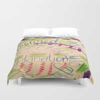 gravity falls Duvet Covers featuring Gravity Falls Quote by writingoverashes