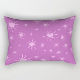 pink spots on pink background Rectangular Pillow