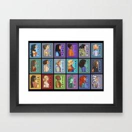 She Series Collage - Version 3 Framed Art Print
