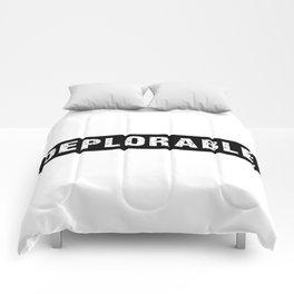 DEPLORABLE White on Black Comforters