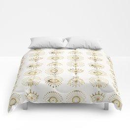 Evil Eyes – Gold Palette Comforters