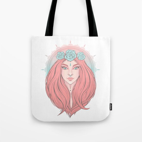 Rose Ivy Tote Bag