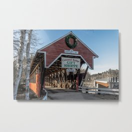 Bartlett Covered Bridge Bartlett New Hampshire Metal Print