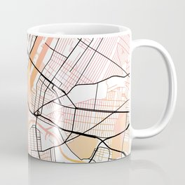 New York Street Map Color Coffee Mug