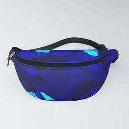 Dark Navy Blue Abstract Shape Stained Glass Fanny Pack