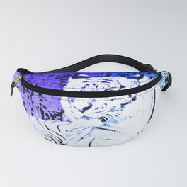 White Tiger Under the Night Sky Fanny Pack