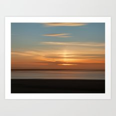 Somerset Sunset Art Print