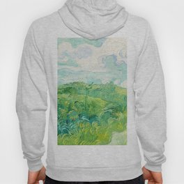 Green Wheat Fields - Auvers, by Vincent van Gogh Hoody