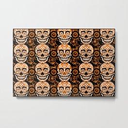 Halloween Calaveras Metal Print