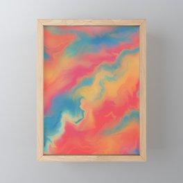 Neon clouds Framed Mini Art Print