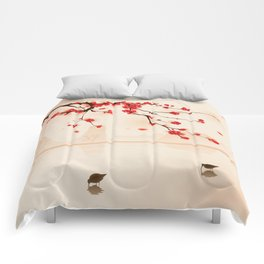 Oriental plum blossom in spring 002 Comforters