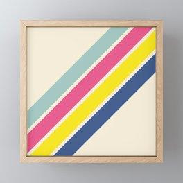 4 Retro Stripes #1 Framed Mini Art Print