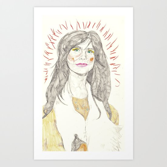 Björk portait Art Print