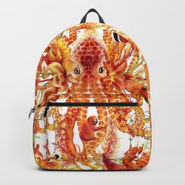 Tangerine Pattern Backpack