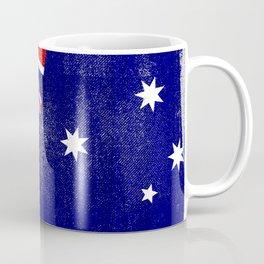 Australian Distressed Halftone Denim Flag Coffee Mug