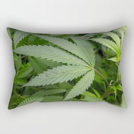 Pot Leaf on a Plant Rectangular Pillow