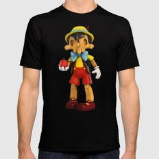 Skull Pinocchio Black Mens Fitted Tee X-LARGE