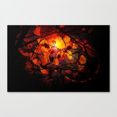 Red and Golden Birch Leaves Canvas Print
