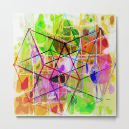 Two Tesseracts Metal Print