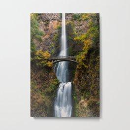 Multnomah Falls, Columbia River Gorge, Oregon Metal Print