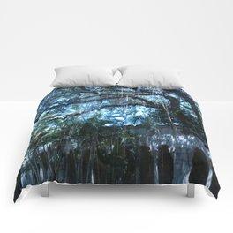 Spanish Monastery Raining Tree Comforters