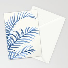 Blue Leaves II Stationery Cards