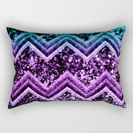 Unicorn Glitter Chevron #4 #shiny #decor #art #society6 Rectangular Pillow