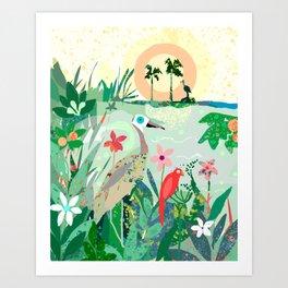 This close to paradise Art Print