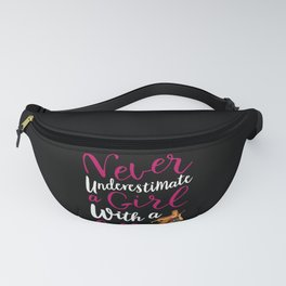 Never Underestimate a Girl With a Cello Cool Gift for Girls design Fanny Pack