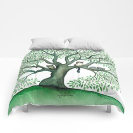 Cheri Whimsical Cats in Tree Comforters