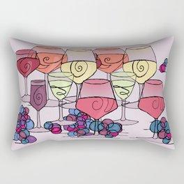 Wine and Grapes v2 Rectangular Pillow