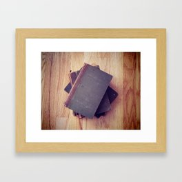 Antique Books Framed Art Print