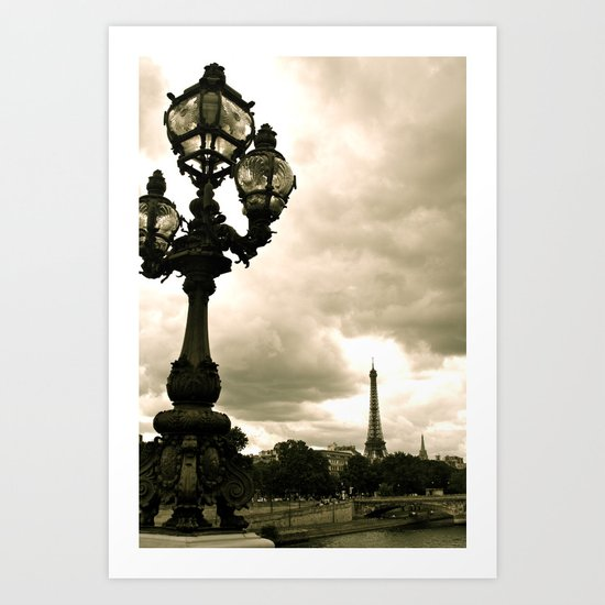 A Night In Paris Art Print