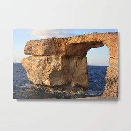 Azure Window Malta Metal Print