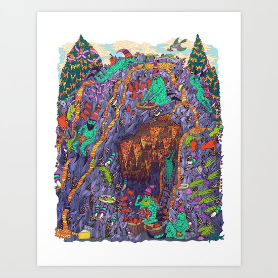 The Pizza Mine Art Print