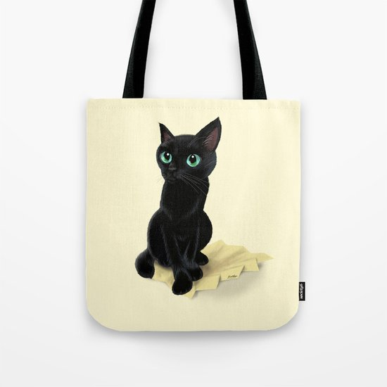 Black little kitty Tote Bag