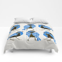 Blue Finches Comforters