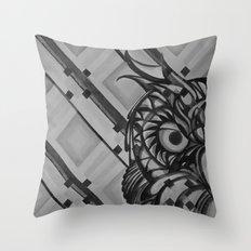 Gray Owl Throw Pillow