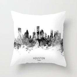 Houston Texas Skyline Throw Pillow