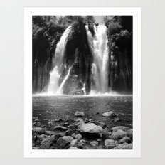 Places in Black & White: Burney Falls 20 Art Print