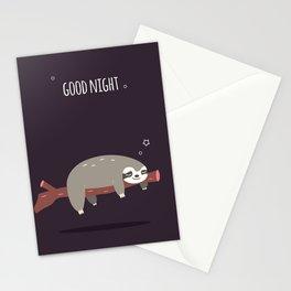 Sloth card - good night Stationery Cards