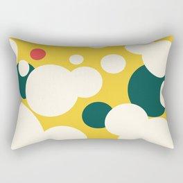 High Sun & White Blossoms Rectangular Pillow