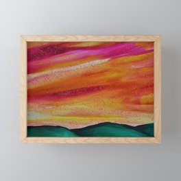 Peach Skyscape Framed Mini Art Print
